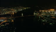 Aerial Night View Port Of Nagoya Area