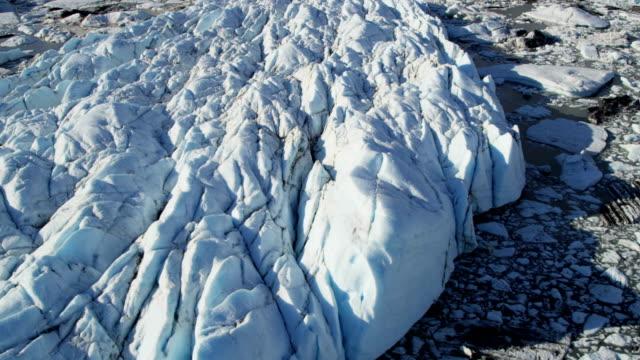 Aerial of Arctic Glacier Landscape Alaska USA