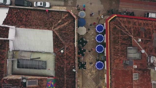 Aerial of Calle Real de Guadalupe in San Cristobal de las Casas