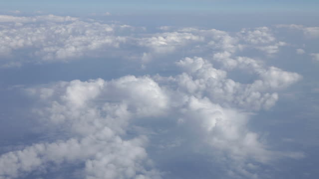 Aerial of clouds over Greenland