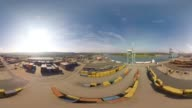 360 Aerial Of Commercial Dock, France