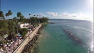 Aerial of the coastline / Barbados, Carribbean