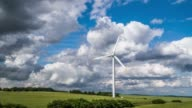 Aerial of Wind Turbine in Summer Landscape