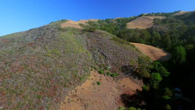 Aerial over Big Sur hills