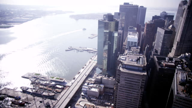 Aerial over East Manhattan