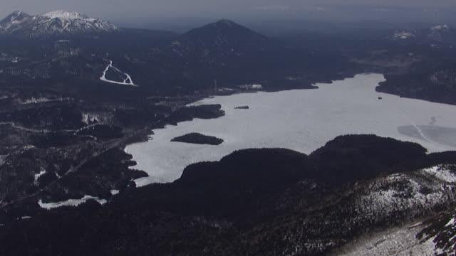 Aerial Over Lake Akan, Hokkaido