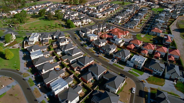 Aerial over neighborhood / Moorabbin, Melbourne