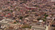 Aerial over the French Quarter and Saint Louis Cathedral / New Orleans Louisiana
