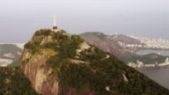 Aerial Pan of Christ the Redeemer Statue.