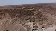 Aerial photography of Avdat- Nabataean city in the Negev desert by drone