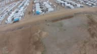 Aerial photography of Khanke Refugee Camp for displaced Yazidis in Northern Iraq