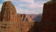 Aerial point of view through Grand Canyon / Arizona