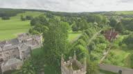 Aerial reveal of West Dean