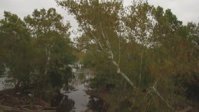 Aerial steigen von Inseln und Stromschnellen auf dem Potomac River in Maryland
