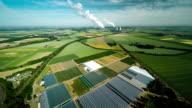 Aerial ländliche Landschaft Nordrhein-Westfalen, Deutschland
