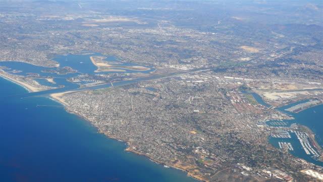 Aerial shot above San Diego-California in 4K