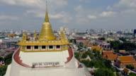 Luftaufnahme: Bangkok Stadtbild Ansicht vom Wat Saket