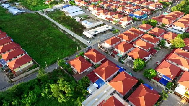 Aerial Shot Community in Thailand