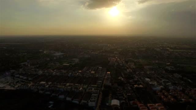 Aerial skott gemenskapen siluett Sky