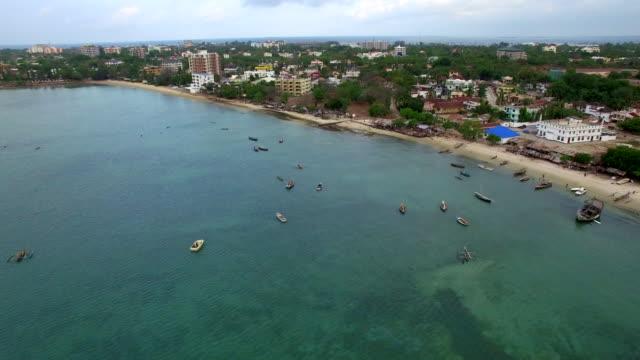 Aerial Shot: Dar Es Salam Msasani Bay