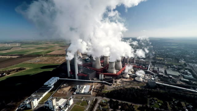 Aerial shot of a Coal Fired Power Station