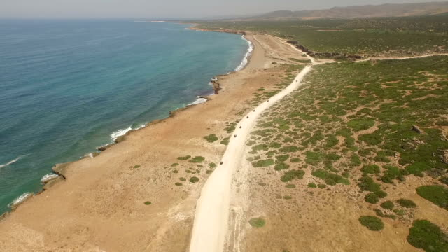 Aerial shot of a quad bike tour in Cyprus