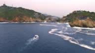 Aerial shot of Acapulco Bay in Mexico