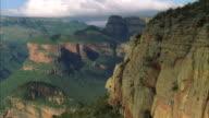Aerial shot of Blyde River Canyon in Mpumalanga