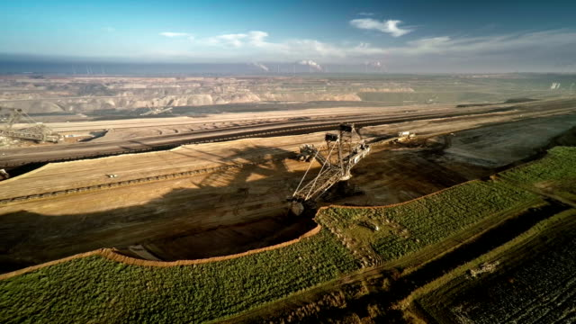 Aerial shot of Brown Coal Surface Mine