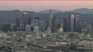 Aerial Shot of Downtown Los Angeles in the Morning on September 26 2013 in Los Angeles California