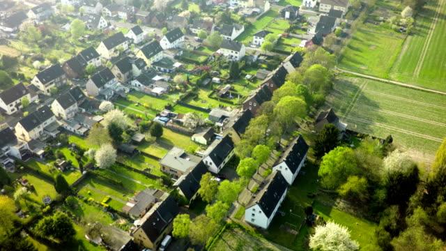 Aerial shot of German Town
