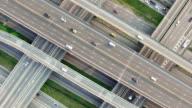 Veduta aerea della superstrada a Bangkok in Thailandia traffico