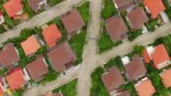 Aerial shot of housing