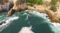 Aerial shot of La Quebrada in Acapulco