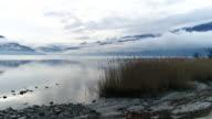 Aerial shot of lake Maggiore, Switzerland