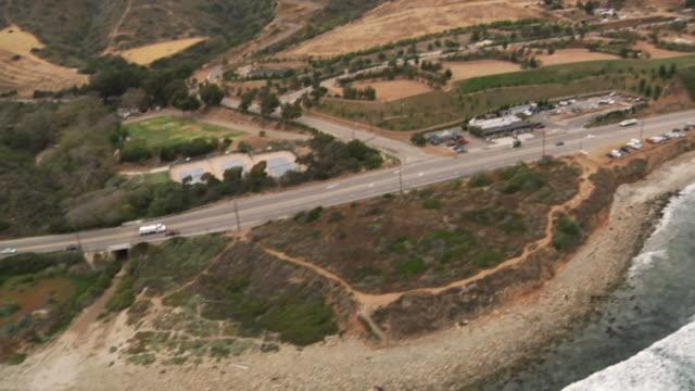 Aerial shot of Malibu, CA