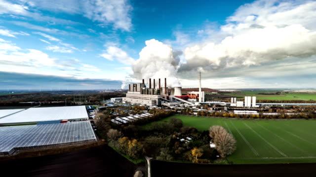 Luchtfoto van de elektriciteitscentrale