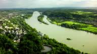 Luftaufnahme der Rhein in Deutschland