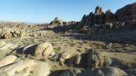 Aerial shot of scenic mountainous desert.