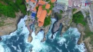 Aerial shot of some roof houses in Acapulco Mexico