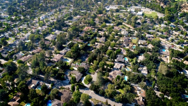 Aerial shot of Southern California Neighborhood