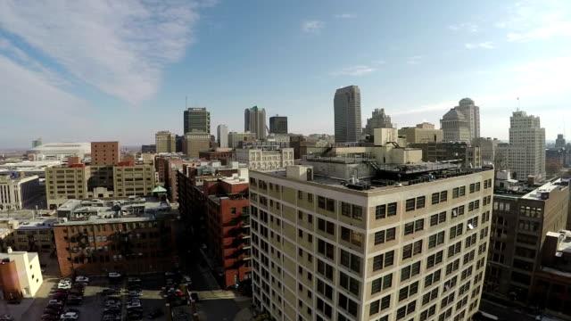 Luftaufnahme von St. Louis downtown