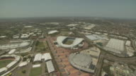 Aerial shot of Stadium Australia and Sydney Olympic Park, NSW, Australia