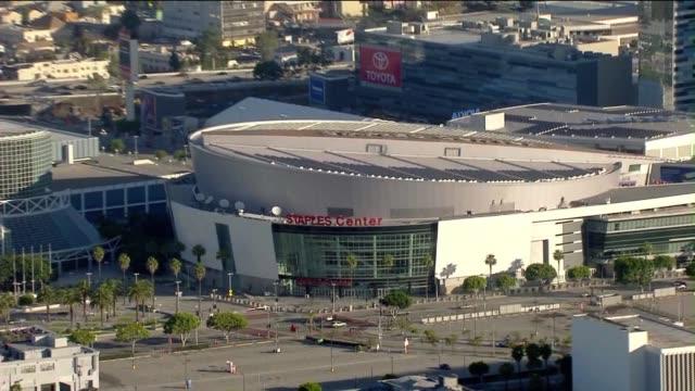 Aerial Shot of Staples Center