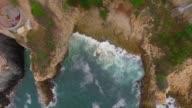 Aerial shot of the hills in La Quebrada Acapulco