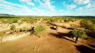 HELI Luftaufnahme des Himba Settlement