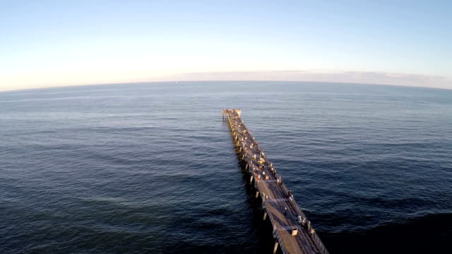 Aerial shot of The Jacksonville Beach Fishing Pier