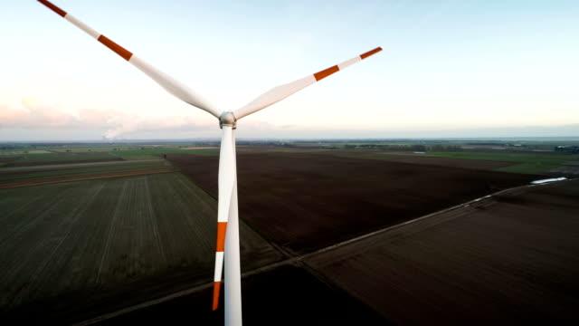 Aerial shot of Wind Turbine