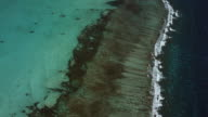 Aerial Shot Over Belize Barrier Reef