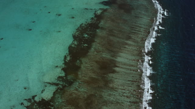 Aerial Shot Over Belize Barrier Reef